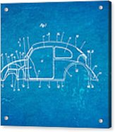 Komenda Vw Beetle Body Design Patent Art 1944 Blueprint Acrylic Print by Ian Monk