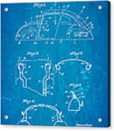Komenda Vw Beetle Body Design Patent Art 1945 Blueprint Acrylic Print