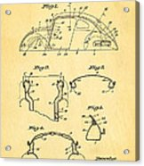 Komenda Vw Beetle Body Design Patent Art 1945 Acrylic Print by Ian Monk