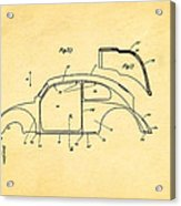 Komenda Vw Beetle Body Design Patent Art 2 1944 Acrylic Print