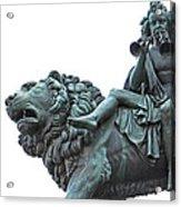Konzerthaus Berlin - Lion Sculpture  Acrylic Print by Ankeeta Bansal