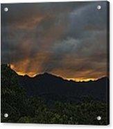 Ko'olau Sunset Rays Acrylic Print