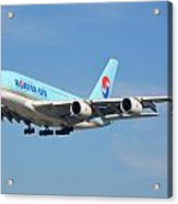 Korean Air Airbus A380-861 Hl7611 Los Angeles International Airport January 19 2015 Acrylic Print