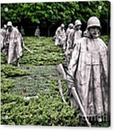 Korean War Veterans Memorial Acrylic Print by Olivier Le Queinec