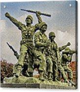 Korean War Veterans Memorial South Korea Acrylic Print