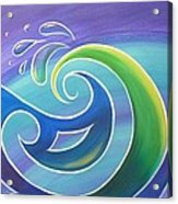 Koru Surf Acrylic Print by Reina Cottier