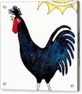 Kosovo Long Crowing Rooster Acrylic Print
