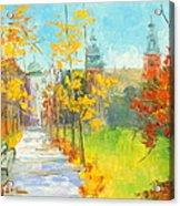 Krakow - Autumn Acrylic Print