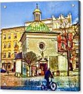 Krakow Main Square Old Town  Acrylic Print
