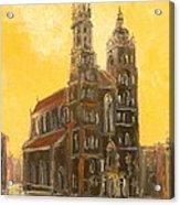 Krakow - Mariacki Church Acrylic Print