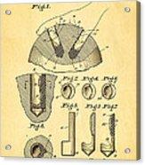 Kramer Bowling Bowl Finger Hole Insert Patent Art 1949 Acrylic Print