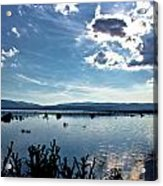 Krbava Field Of Lika Blue Lake Acrylic Print