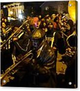 Krewe Du Vieux Parade In New Orleans Acrylic Print by Louis Maistros