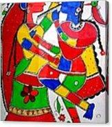 Krishna And Radha Acrylic Print by Shruti Prasad