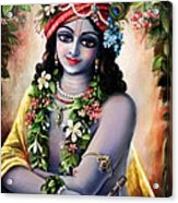 Krishna -forest Boy Acrylic Print