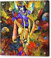Krishna With A Star Deer Acrylic Print