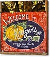 Kruger's Farm Acrylic Print