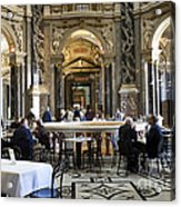 At The Kunsthistorische Museum Cafe II Acrylic Print