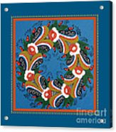 Kurbits Wreath Blue Acrylic Print