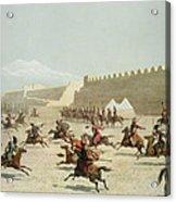 Kurdish And Tatar Warriors At Sadar Acrylic Print