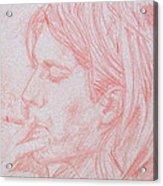 Kurt Cobain Smoking-pencil Portrait Acrylic Print