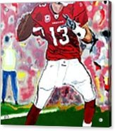 Kurt Warner-in The Zone Acrylic Print by Bill Manson