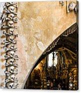 Kutna Hora Bone Church Acrylic Print by Joanna Madloch