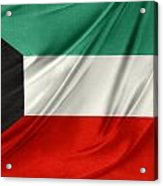 Kuwait Flag  Acrylic Print by Les Cunliffe