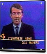 Kvoa Tv Anchorman Interviewer Writer Photographer Dick Mayers Screen Capture Collage Circa 1965-2011 Acrylic Print