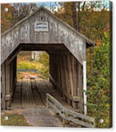 Ky Hillsboro Or Grange City Covered Bridge Acrylic Print