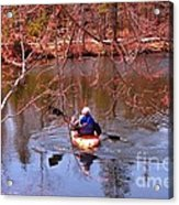 Kyaking On A Lake In Spring Acrylic Print