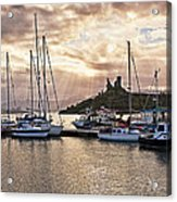 Kyleakin Harbor And Castle Moil Acrylic Print