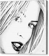 Kylie Minogue Portrait Acrylic Print