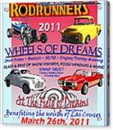 L C Rodrunner Car Show Poster Acrylic Print