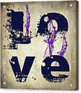 L O V E Crumbling Acrylic Print