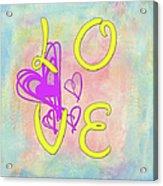 L O V E Disney Style Acrylic Print