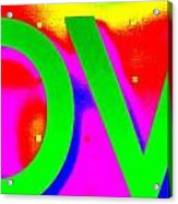 L O V E Acrylic Print