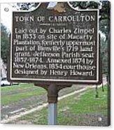 La-007 Town Of Carrollton Acrylic Print