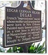La-012 Edgar Germain Hilaire Degas Acrylic Print