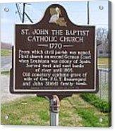 La-024 St John The Baptist Catholic Church 1770 Acrylic Print