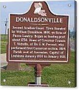 La-033 Donaldsonville Acrylic Print