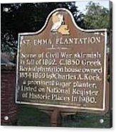 La-034 St. Emma Plantation Acrylic Print