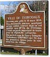 La-036 Ville De Thibodaux Acrylic Print