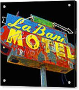 La Bank Motel - Black Acrylic Print