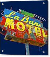 La Bank Motel Acrylic Print