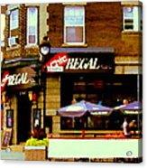 La Chic Regal Taverne Au Coin Rue Centre Et Charlevoix Pointe St Charles Scene De Rue Carole Spandau Acrylic Print