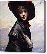 La Coquette Acrylic Print by Gustave Jean Jacquet