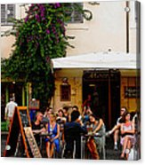 La Dolce Vita At A Cafe In Italy Acrylic Print