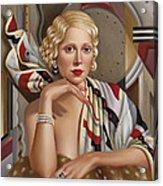 La Femmeen Soiehi  Acrylic Print