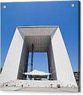 La Grande Arch In La Defense Business District Paris France Acrylic Print